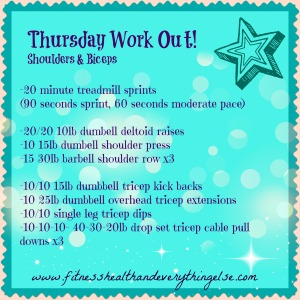 thursday final workout