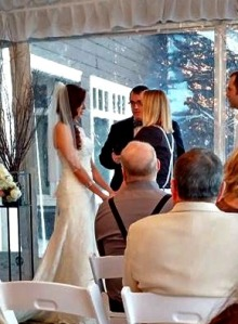 Shadoe and Whit saying their vows