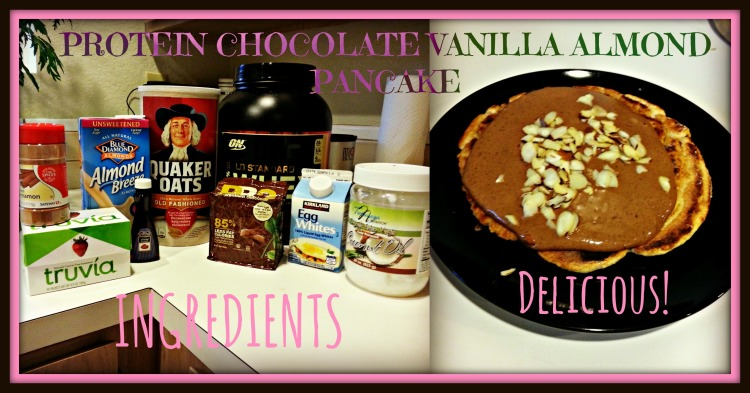 Protein Chocolate Almond Pancake